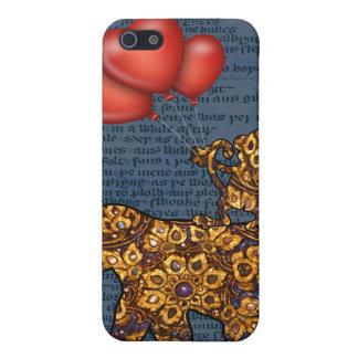 Coques iPhone 5 Le singe sur des éléphants soutiennent des ballons