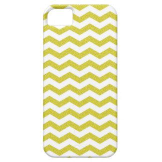 Coques iPhone 5 Motif de zigzag texturisé de zigzag jaune de