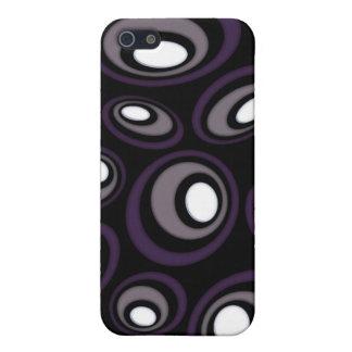 Coques iPhone 5 Ovales excentrés de prune et de faon rétros