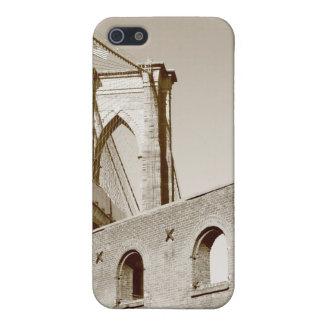 Coques iPhone 5 Pont de Brooklyn et horizon de Manhattan la nuit