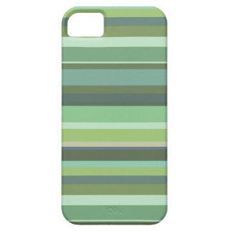 Coques iPhone 5 Rayures horizontales de vert olive