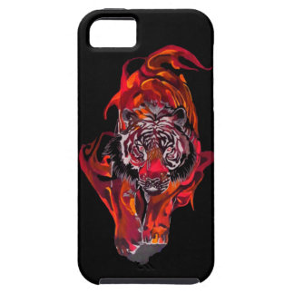 Coques iPhone 5 Tigre rouge