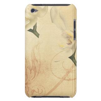 Coques iPod Touch Arrière - plan vintage d'orchidée