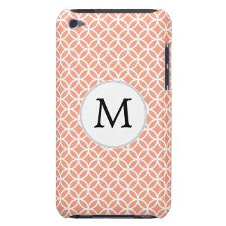 Coques iPod Touch Motif de corail personnalisé de doubles anneaux de
