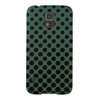 Coques Pour Galaxy S5 Cercles noirs de cascade vert-foncé