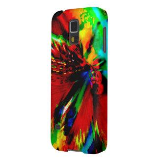Coques Pour Galaxy S5 Fleurs avec le coup-de-pied 1 de couleur