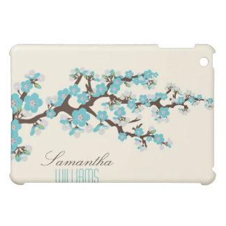Coques Pour iPad Mini Belles fleurs de cerisier d'Aqua