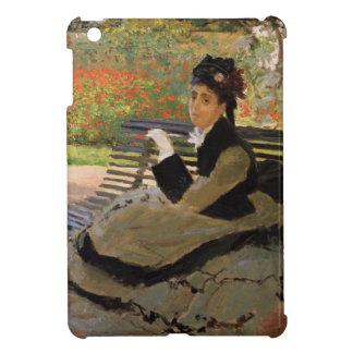 Coques Pour iPad Mini Camille Monet sur un banc de jardin - Claude Monet