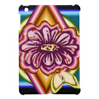 Coques Pour iPad Mini Fleur pourpre avec des formes géométriques
