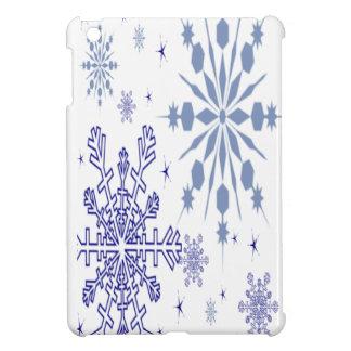 Coques Pour iPad Mini Flocons de neige assez bleus