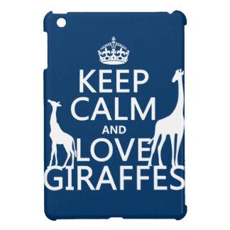 Coques Pour iPad Mini Gardez le calme et aimez les girafes - toutes les
