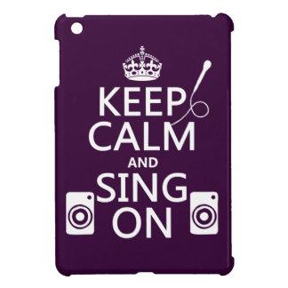 Coques Pour iPad Mini Gardez le calme et chantez sur (le karaoke)