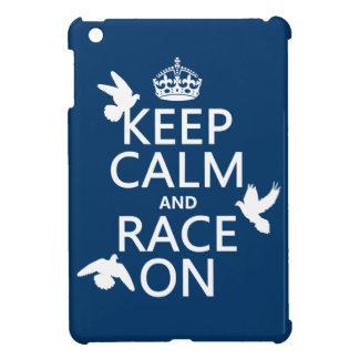 Coques Pour iPad Mini Gardez le calme et la course sur (pigeons) (toutes