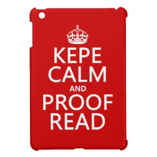 Coques Pour iPad Mini Gardez le calme et le corrigez sur épreuves (le