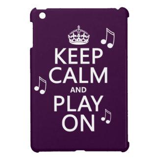 Coques Pour iPad Mini Gardez le calme et le jeu dessus - des notes de