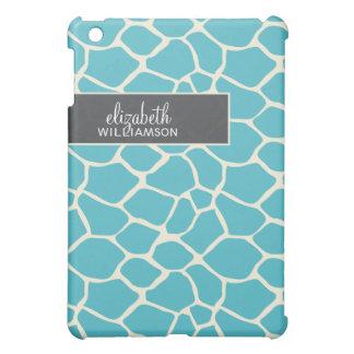 Coques Pour iPad Mini Girafe bleu vert Pern