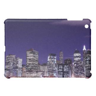 Coques Pour iPad Mini Horizon de Manhattan aux lumières de nuit, NYC