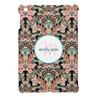 Coques Pour iPad Mini Motif floral de fougères de monogramme vintage de