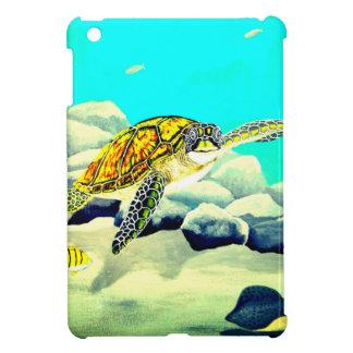 Coques Pour iPad Mini Tortue de mer peignant la belle mer bleue