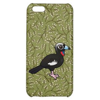 Coques Pour iPhone 5C Birdorable Noir-a affronté Guan sifflant