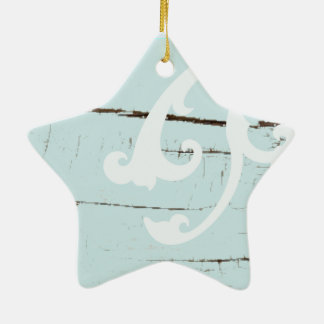 Coquillages bleus d'étoiles de mer d'aqua en bois ornement étoile en céramique