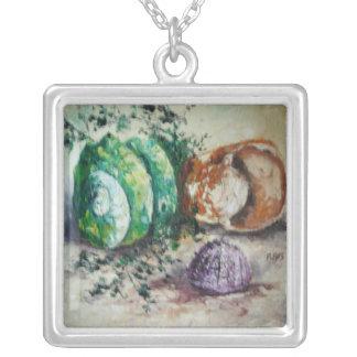 Coquilles de mer de peinture d'Ann Hayes de Collier