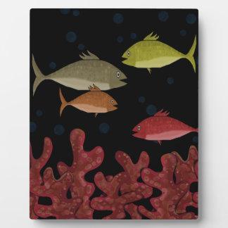 Coraux et poissons plaques d'affichage