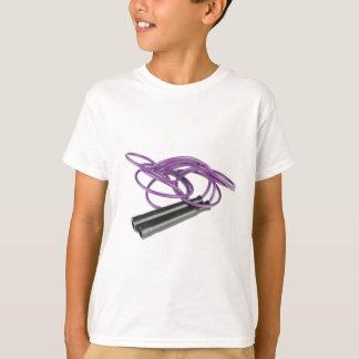 Corde de saut pourpre t-shirt