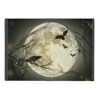 Corneilles éffrayantes de lune de Halloween Étui iPad Mini