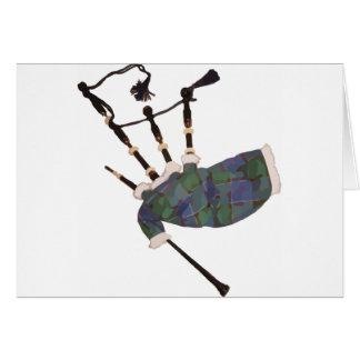 cornemuses écossaises de plaid carte