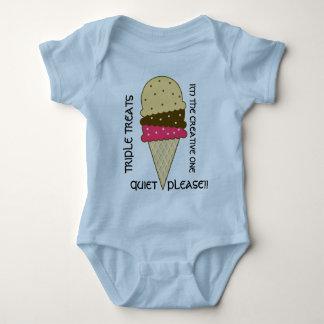 Cornet de crème glacée - chemises créatives de body