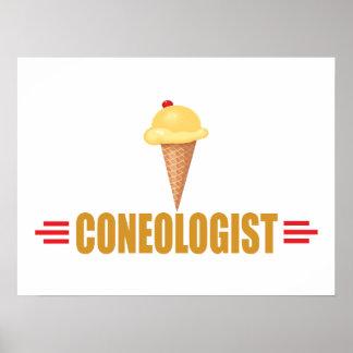 Cornets de crème glacée humoristiques poster