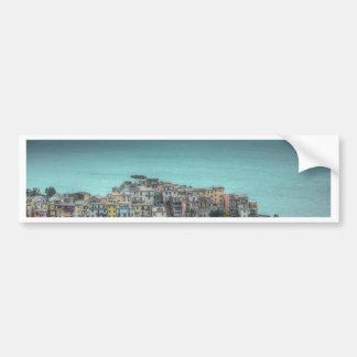 Corniglia sur les falaises, Cinque Terre Italie Autocollant De Voiture