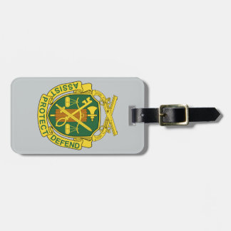 Corps de police militaire d'armée étiquette à bagage