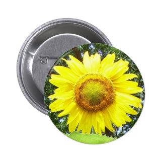 Corsage jaune de tournesol - Sans Allergie ! Badge Rond 5 Cm