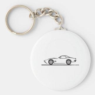 Corvette 1970-72 porte-clé rond