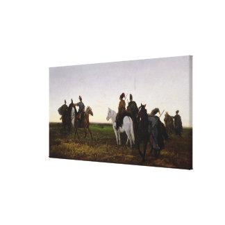 Cosaques à cheval, 1874 (huile sur la toile) toiles