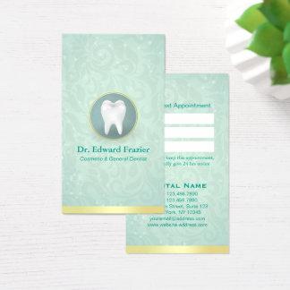 Cosmétique et le Général Dentist Appointment Gold Cartes De Visite