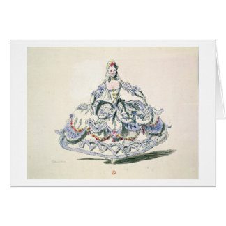 Costume d'opéra, de la collection de Plaisirs de Carte De Vœux