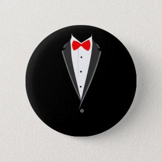 costume élégant de tabagisme de noir de smoking de badge rond 5 cm