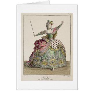"""Costume pour Medea dans l'opéra """"Jason et Medea"""", Carte De Vœux"""