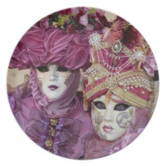 Costume pourpre de carnaval, Venise Assiette