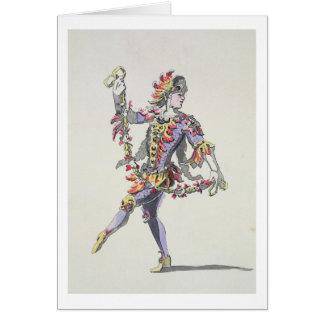 Costumez la conception pour Triton, dans un balle  Carte De Vœux