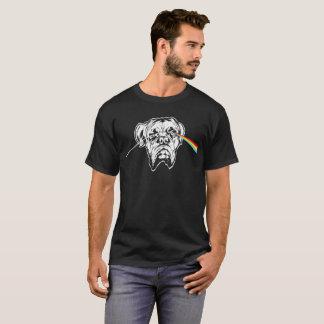 Côté en noir du T-shirt français de mastiff de