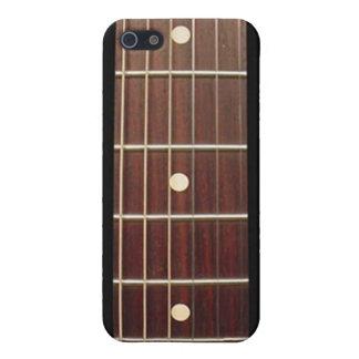 Cou de guitare de bois de rose pour l'iPhone sept  iPhone 5 Case