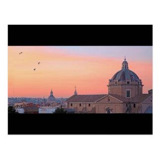 Coucher du soleil à Rome Carte Postale