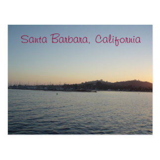 Coucher du soleil à Santa Barbara Cartes Postales