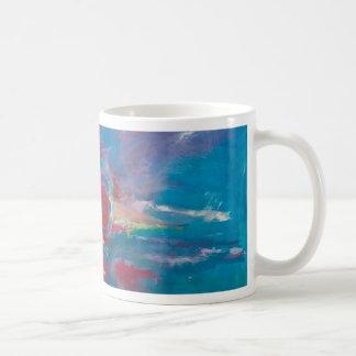 Coucher du soleil bleu et mauve mug