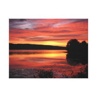 Coucher du soleil Bridgewater la Nouvelle-Écosse. Toiles