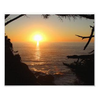 Coucher du soleil côtier photographie
